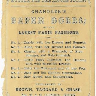 Advertisement for Chandler's Paper Dolls