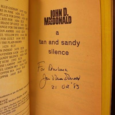 A Tan and Sandy Silence SIGNED John D. MacDonald