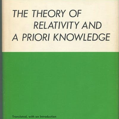 The Theory of Relativity and A Priori Knowledge Reichenbach