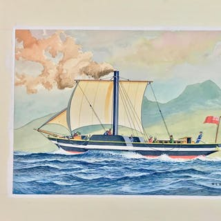 The Comet - Original Maritime Themed Artwork by William...