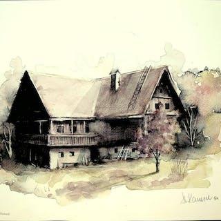 Altes Landhaus   Grafik-Künstlergrafik