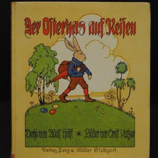 Der Osterhas auf Reisen. Ein lustiges Hasenbuch. Holst, Adolf. Bücher
