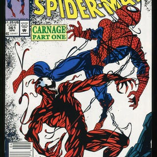 Amazing Spider-Man 361 Newsstand Comic First Full App of...