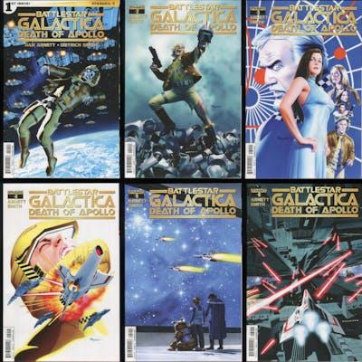 Battlestar Galactica Death of Apollo Full Comic Set...