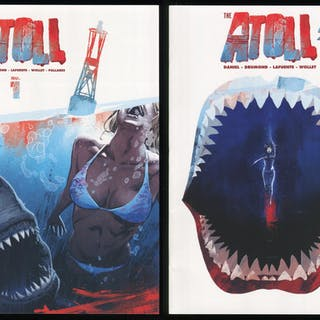 The Atoll Comics 1-2 Great White Shark Attack Horror similar to Jaws
