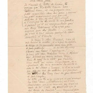 Lettre autographe signée (1895) / Camille Corot Camille Pissarro