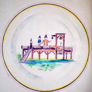CŽramique rŽvolutionnaire. L'Assiette dite ˆ la Guillotine. GOUELLAIN (Gustave)