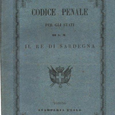 Codice Penale per gli Stati di S. M. il Re di Sardegna