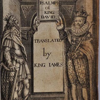 THE PSALMES OF KING DAVID, TRANSLATED BY KING JAMES. Bible. Psalms.