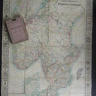 Karta öfver landsvägarne uti Sverige och Norrige samt en del af Danemark