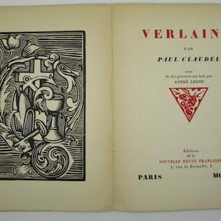 Verlaine. Orné de dix gravures sur bois par André Lhote CLAUDEL, Paul