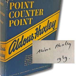 Point Counter Point (Signed) Huxley, Aldous Signed Books