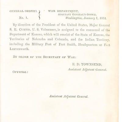 [Bound volume of War Department General Orders] CIVIL WAR
