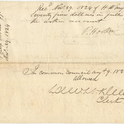1824 Architect Philip Hooker Gets Paid by City of Albany...
