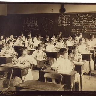 Classroom Photograph of Schoolchildren with Butterfly...