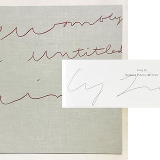 Cy Twombly: An Untitled Painting [SIGNED] Robert...