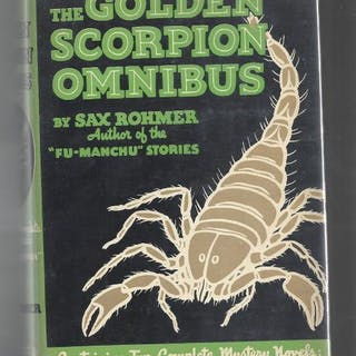 The Golden Scorpion by Sax Rohmer Russel Crofoot cvr; Sax Rohmer Mystery