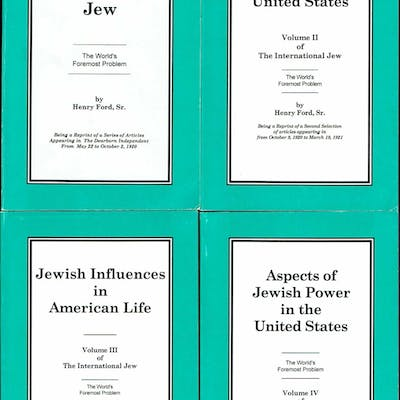 The International Jew [Four Volumes] Ford, Henry