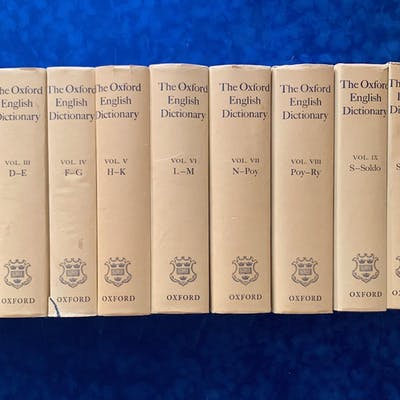the oxford english dictionary oxford at clarendon press 1961 XIII vol J