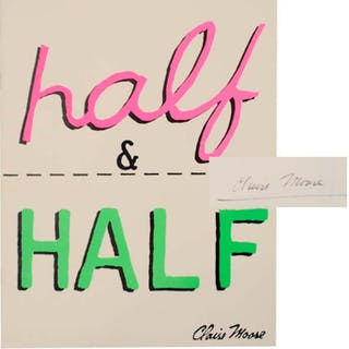 Half & Half (Signed First Edition) MOORE, Claire Artist Book