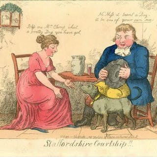 Staffordshire Courtship!! PRINT. WOODWARD, George Moutard.