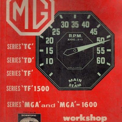 M.G.Workshop Manual Series TC TD TF TF1500 MGA MGA 1600...