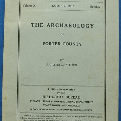 THE ARCHAEOLOGY OF PORTER COUNTY [INDIANA] J