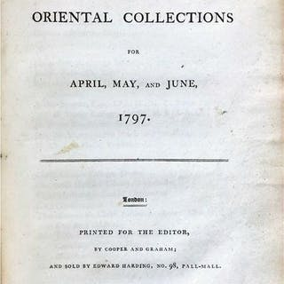 [The Oriental Collections: consisting of original essays and dissertations