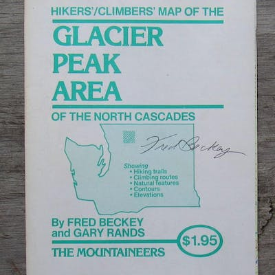 Hikers' - Climbers' Map of the Glacier Peak Area of the...