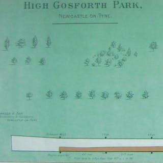 High Gosforth Park, Newcastle-on-Tyne [Racecourse plan]. Oswald, J.