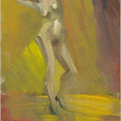 Standing Female: Arms Behind Head CUMMINGS, E.E. Art by E.E. Cummings,Artwork