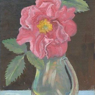 Pink Flower In Vase CUMMINGS, E.E. Art by E.E. Cummings,Artwork