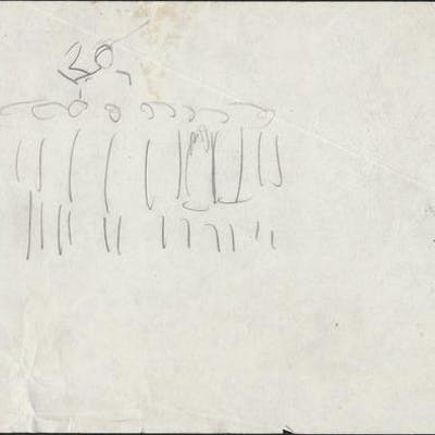 Chariot Sketch CUMMINGS, E.E. Art by E.E. Cummings,Artwork