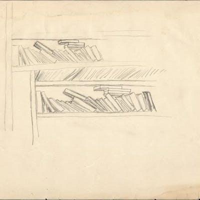 Bookshelves CUMMINGS, E.E. Art by E.E. Cummings,Artwork