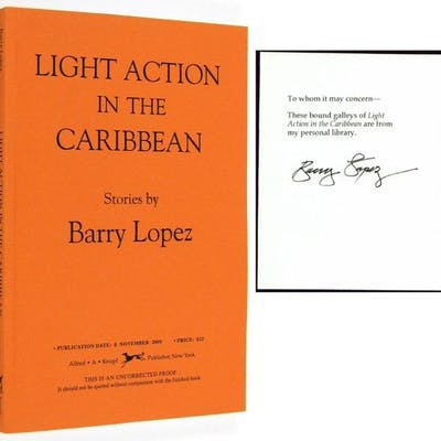Light Action in the Caribbean LOPEZ, Barry Uncorrected Proof