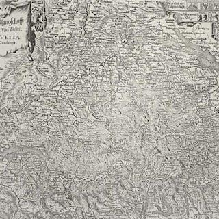 Schweiz. - Landkarte