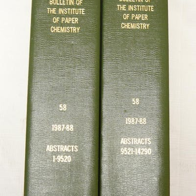 Abstract Bulletin of the The Institute of Paper Chemistry: 1987-88