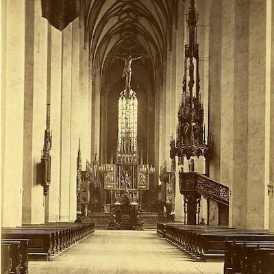 Germany Munich Munchen Frauenkirche Interior Old Photo...