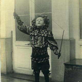 France Boy Playing Diabolo Player Children Game Costume...