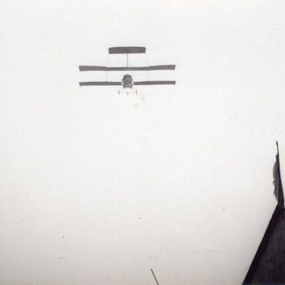 France Aviation Voisin Biplane in Flight old Photo circa...