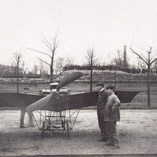 France Aviation Saulnier? Monoplane Front view old Photo...