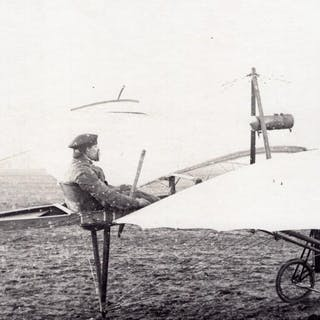 France Aviation Raoul Vendome in his Monoplane old Photo...