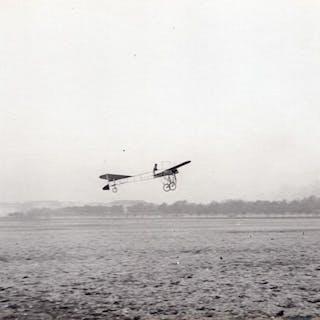 France Aviation Thomann ? Monoplane in Flight old Photo...