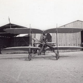 France Aviation Odier Vendome Biplane Hangars old Photo...