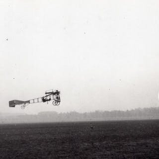 France Aviation Saulnier Monoplane Flying old Photo circa...