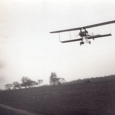 France Aviation Breguet ? Biplane in Flight old Photo...