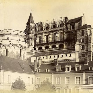 France Amboise castle old Photo 1880   Architecture (Other),Cities, Towns,France