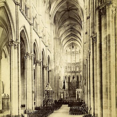 France Amiens Cathedral interior old Photo 1880 A