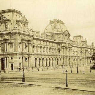 France Paris New Louvre Palace Façade old Photo 1880 X...