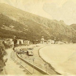 France Menton Garavan Panorama old Photo 1880   Cities